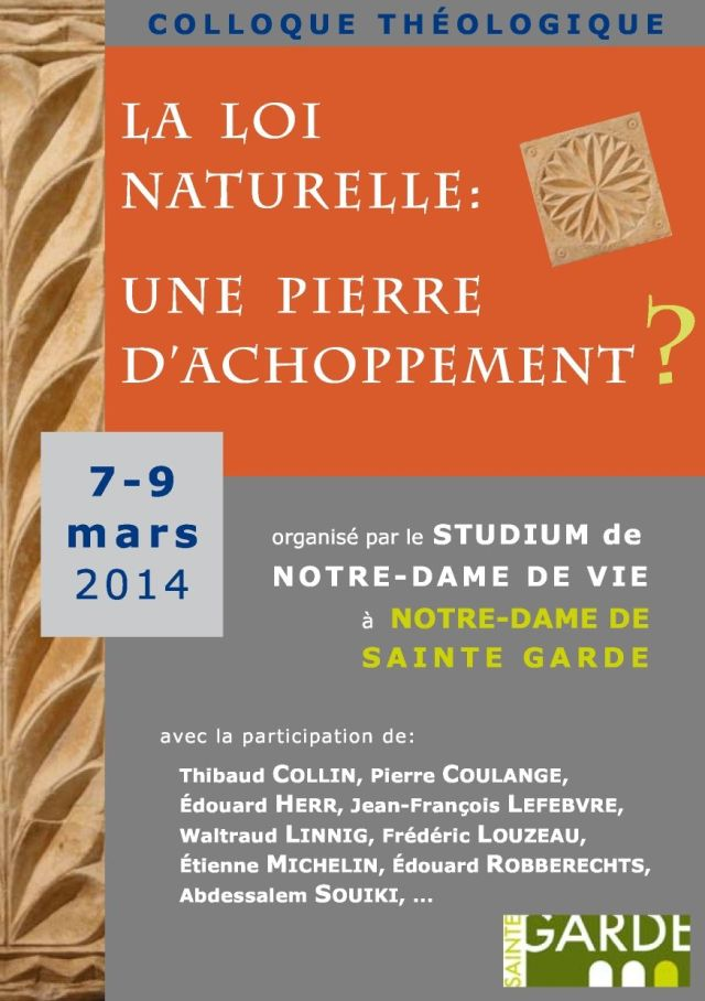 Affiche Colloque Loi Naturelle