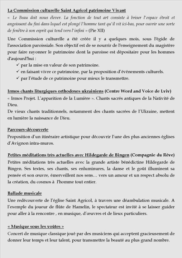 Tract Présence chrétienne Saint Agricol verso
